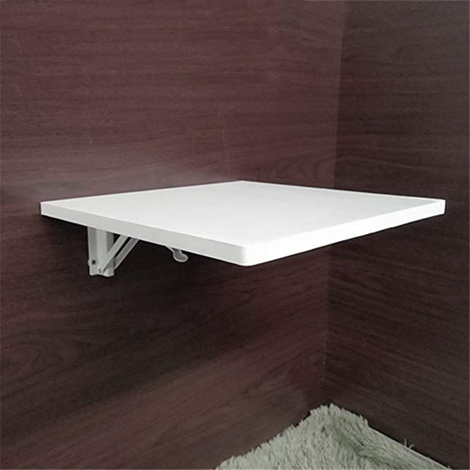 Zfggd Wall Mounted Drop Leaf Folding Table Laptop Desk White In 10