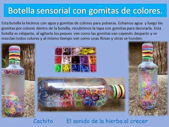 Botellas sensoriales con gomitas de colores: efecto visualcalmante, efecto estimulador de la vista o refuerzo cognitivo :El sonido de la hierba al crecer