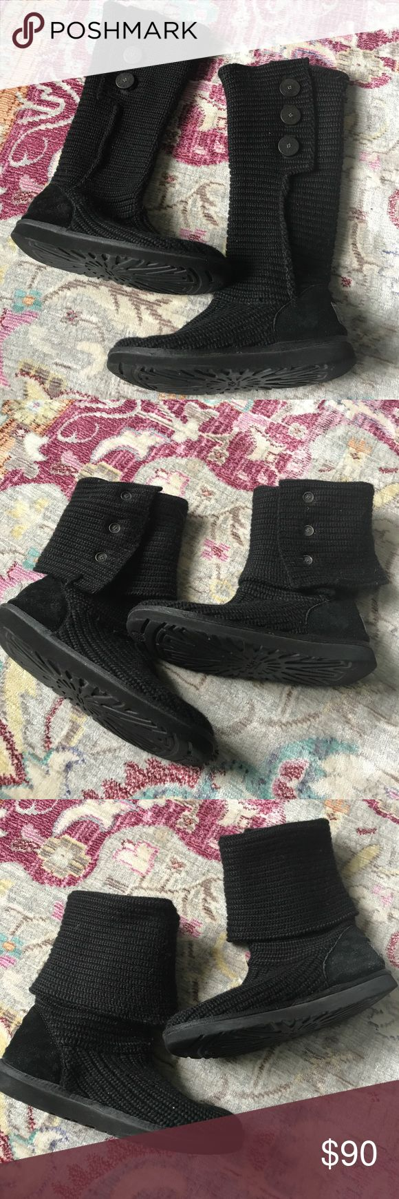 UGG Cardy tall black boots size 10 UGG Cardy tall black boots size 10. GUC UGG Shoes Winter & Rain Boots