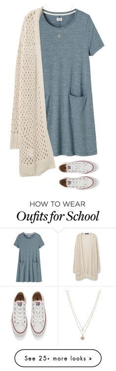 """Late to school"" by alexaajr on Polyvore featuring Toast, Converse, MANGO and LC Lauren Conrad"