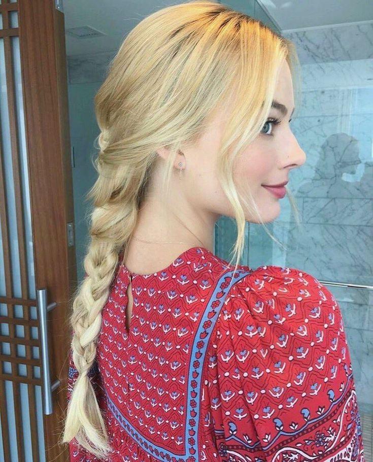 Margot Robbie braid hairstyle