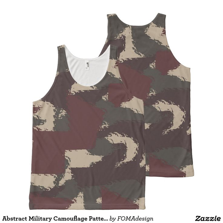 Abstract Military Camouflage Pattern / All-Over Print Tank Top #fomadesign