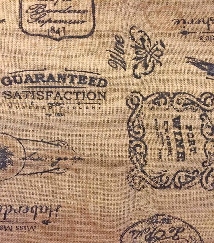 Printed Burlap-Wine Labels