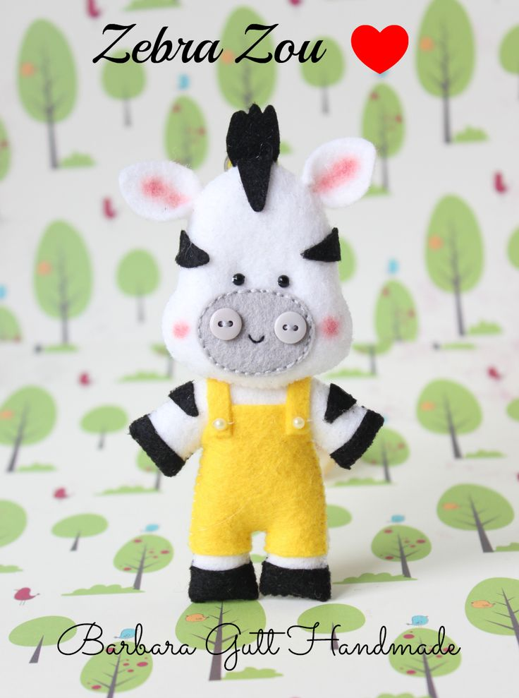 Barbara Handmade...: filcowa zebra