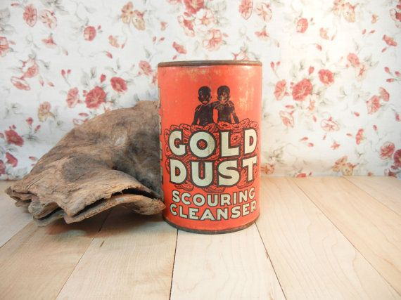 Vintage Unopened Can of Gold Dust Cleanser by DandelionLaneVintage, $19.00