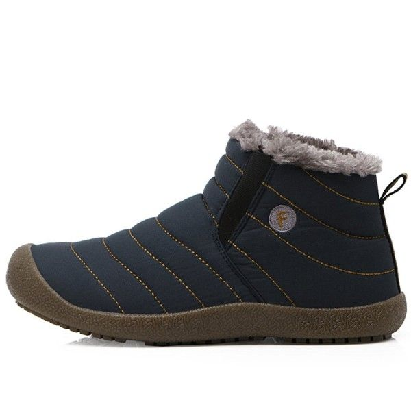 Mens Womens Winter Waterproof Warm Thick Fur Lined Snow Boot Slip