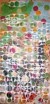 Sophie Munns. Another good example of the type of printing you could do when you come back. Notice how the shapes have been simplified from more complex natural forms. These are seed pods.