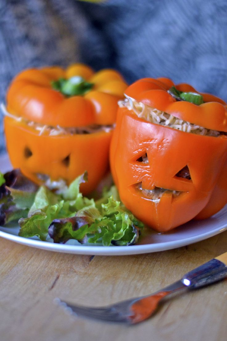Halloween: Täytetyt Paprikat