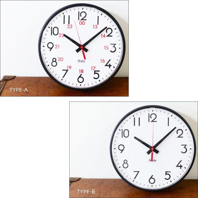 【楽天市場】FRANKLIN INSTRUMENT COMPANY「フランクリン・インストゥルメント・カンパニー」12 INC WALL CLOCK [ウォールクロック] (TYPE-A/TYPE-B)「MADE IN USAで作られる アメリカの学校に使用される壁掛け時計」MEN'S/LADY'S [stationery/furniture]【あす楽対応】:refalt