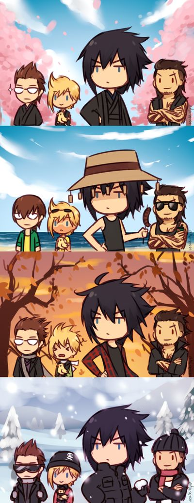 FFXV Seasons by Sealkittyy on DeviantArt