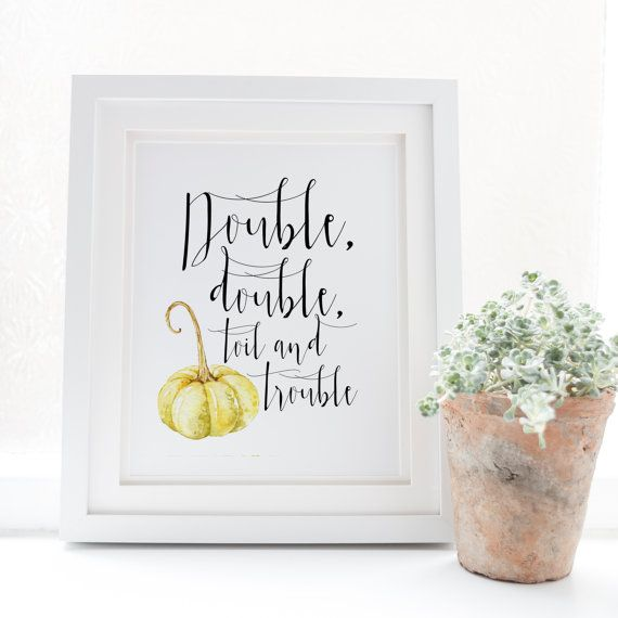 Double double toil and trouble  Halloween Print  by SnowAndCompany