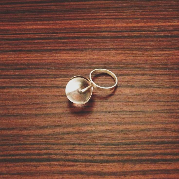 The Natural Quartz Crystal Ball Ring