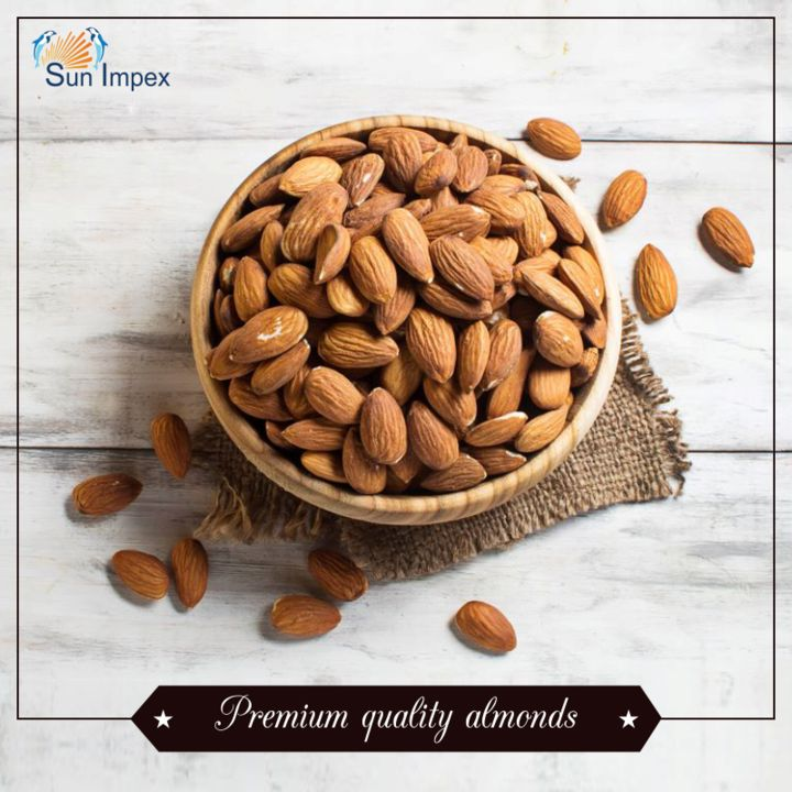 Incredibly popular tree nut, almonds are extremely healthy and highly nutritious dry fruit. Almonds are native to the Middle East, from where it has spread to the world. Though the United States of America is now the world's largest producer of Almonds.  Sun Impex imports premium quality almonds from the United States of America and Australia.  To get them, visit : http://bit.ly/Nuts_Almonds