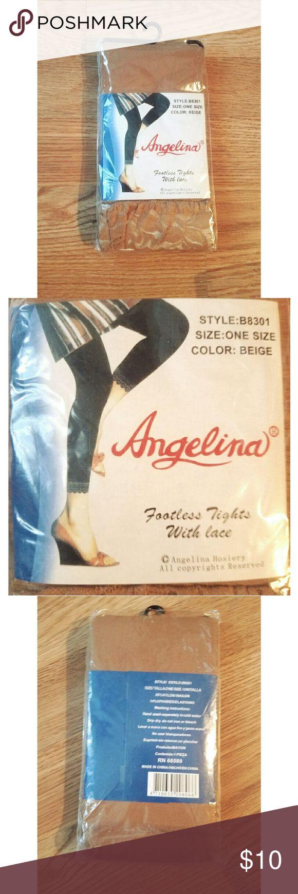 ?? BUNDLE SALE  ?? Beige Footless Tights w/Lace Beige Footless Tights w/Lace Pants Leggings