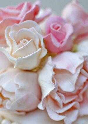Ruffles and Pearls Sugar Flowers