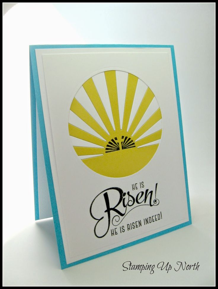 .....He is risen indeed!     When I saw this stamp set at Paper trey, called Easter Alleluias.....the sentiments reminded me of the Len...
