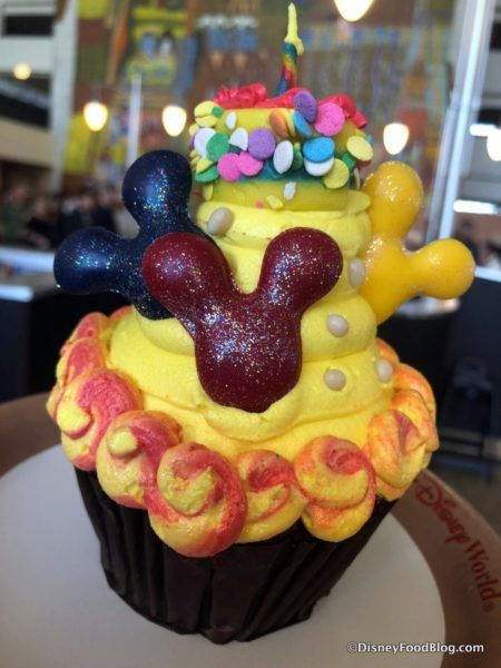 Mickeys Birthday Cake Cupcake At Contempo Cafe In Disney Worlds Contemporary Resort