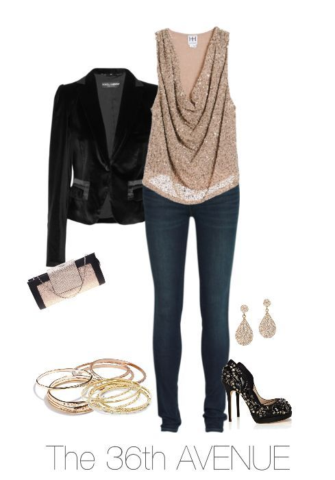 Casual Chic. Perfect for New Year's Eve.   More Winter Outfit Ideas on this post.