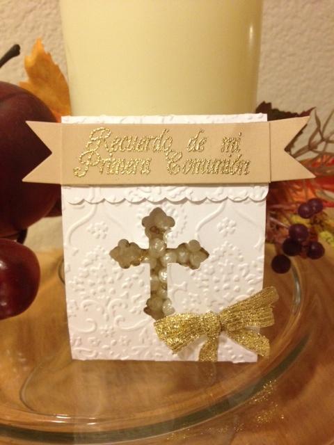 Cricut Critter Scrapping Heaven: mi primera comunion