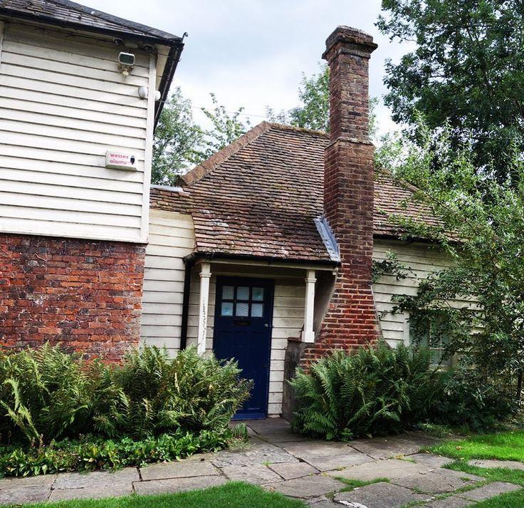 #mordenhallpark #cottage #porch #doors #chimney #brick #rustic
