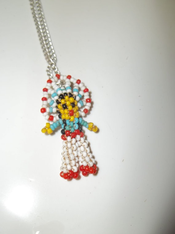 kachina doll beaded necklace native american by