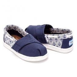 Chaussures Bimini Toms ancre marine bleu Tige en toile de jute et textile semelle extérieure en caoutchouc Fermeture réglable