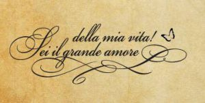 Rubber stamp in Italian language