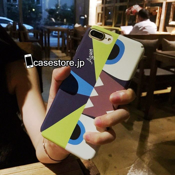 Fendiファッションブランドモンスター目眼精緑赤いiPhone8/7s/7/7Plusケースカップル向けペア携帯カバー