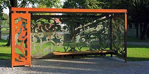 Bus shelter, designed by Hild und K Architekten, Germany. - only by bending
