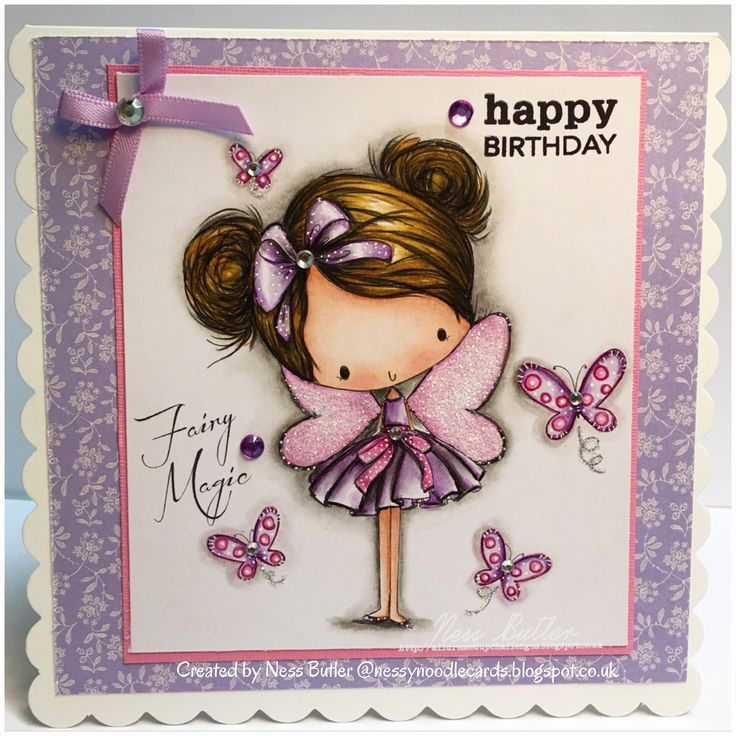 All Dressed Up stamps/digi/ Etsy/ Fairy Magic/ Polychromos pencils/ Ness Butler/ NessyNoodle cards/