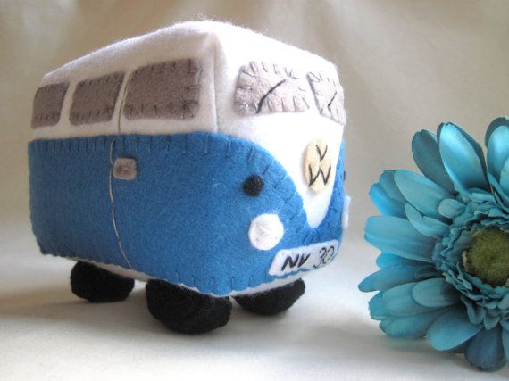 VW Campervan Plush Collectible Toy Personalized Made to Order. £22.00, via Etsy.