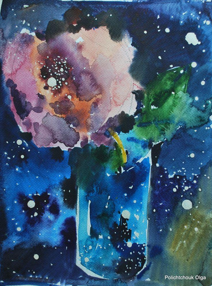 vendita quadro dipinto ad acquerello originale fatto a mano arte in esemplare unica rosa a voi!!!! di MansardaDiOlga su Etsy