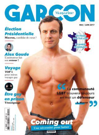 Garçon Magazine soutient Emmanuel Macron