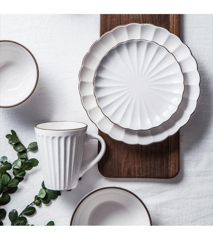 Angel Flare Western Dinnerware Ceramic Tableware Dinnerware Tableware