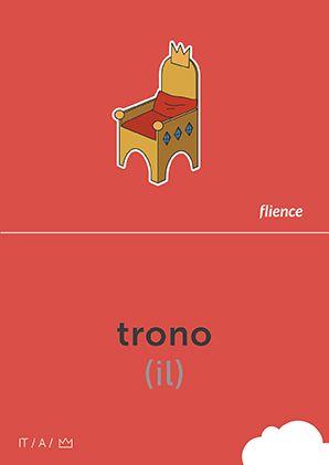 Trono #CardFly #flience #history #kingdom #italian #education #flashcard #language