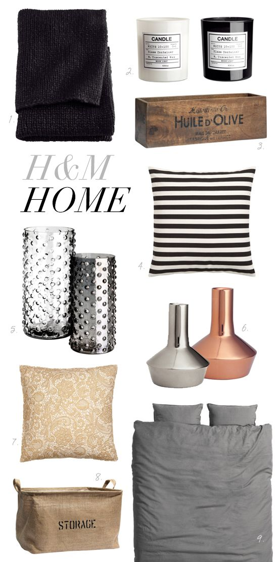 H & M Home. Might be a great resource for C and P. OMG H AND M HOME??? why wasn't I told about this
