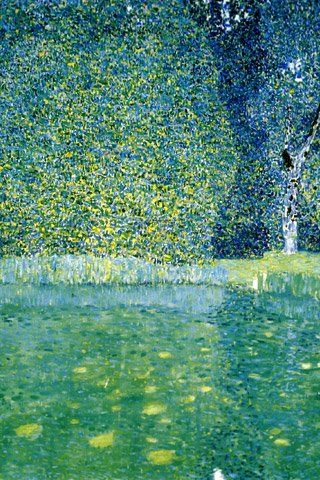 Klimt's landscapes were just as pretty as anything else he ever did.