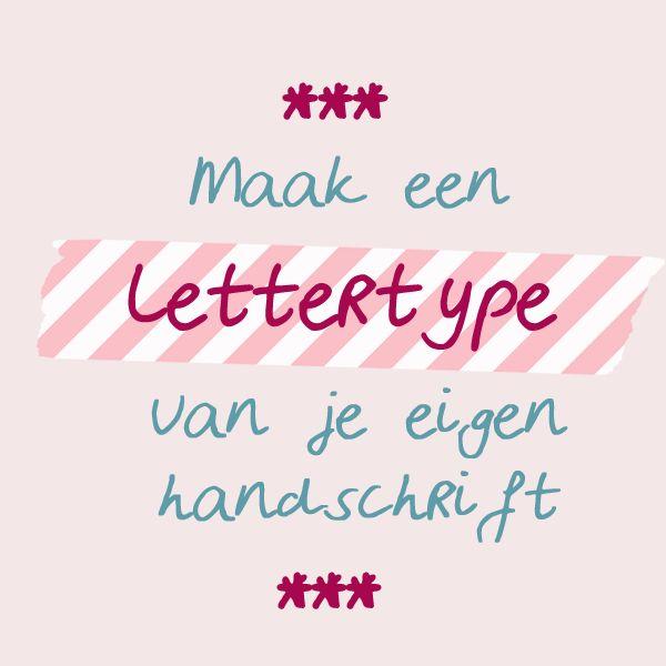 Zet je eigen handschrift heel makkelijk om in een lettertype met deze gratis tool #diy #font #lettertype #handschrift