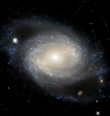 Barred Spiral Galaxy - ESA/Hubble & NASA