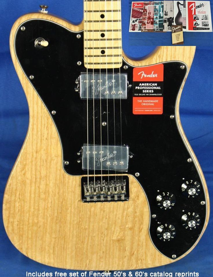 Fender USA American Professional Am-Pro Telecaster Tele Deluxe Electric Guitar
