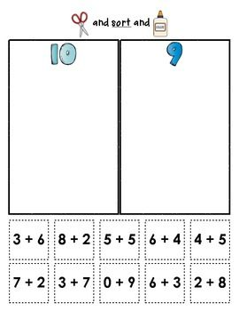 Sum Sorts {Early Math Sorting Series, Set #2}: These sorting sheets are a great way to provide extra practice with sums to 15... use in small groups, in math centers, or as homework options. $