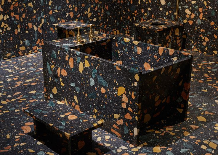 Max Lamb's marble bathroom at Design/Miami Basel 2015  http://www.dezeen.com/2015/06/19/max-lamb-bathroom-design-miami-basel-2015-marmoreal-furniture-installation/