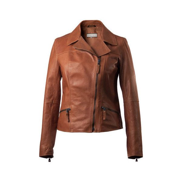 Women's Cropped Italian Leather Jacket ($61) ❤ liked on Polyvore featuring outerwear, jackets, real leather jackets, brown jacket, brown leather jackets, cropped leather jacket and genuine leather jackets