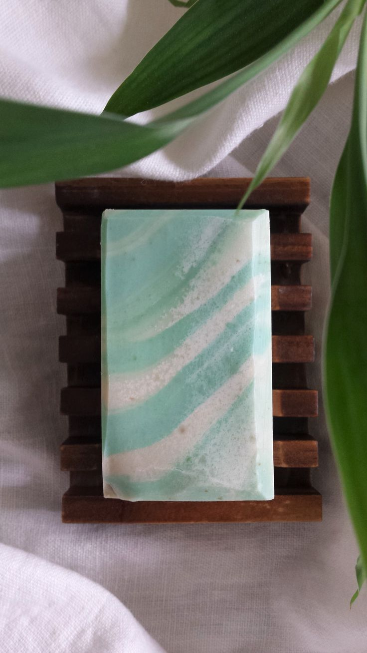 Handmade Soap with fresh Avocado and green french Clay. Handmade by Soap Street 339