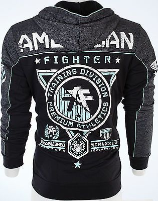 ... American Fighter AFFLICTION Mens Hoodie Sweat Shirt Jacket GONZAGA Biker UFC $85 9