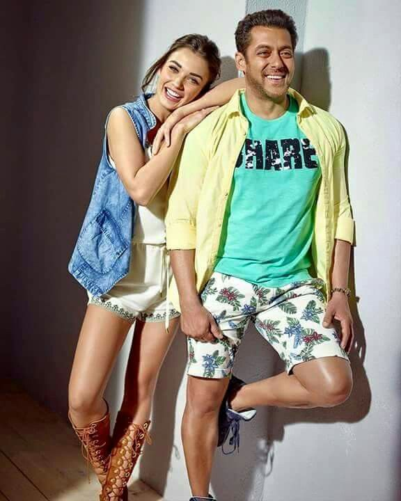 Salman khan And Amy Jackson...