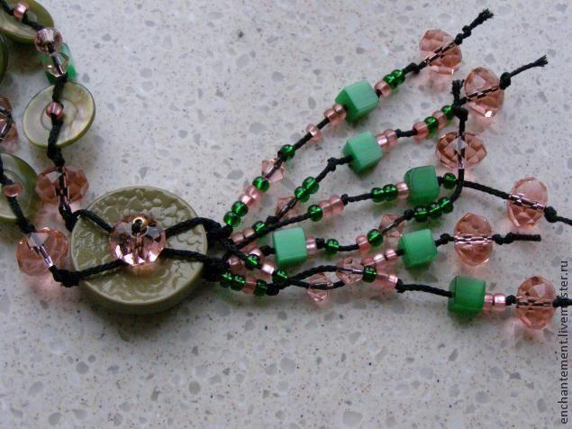 Делаем ожерелье из пуговиц - нет предела фантазии - Ярмарка Мастеров - ручная работа, handmade