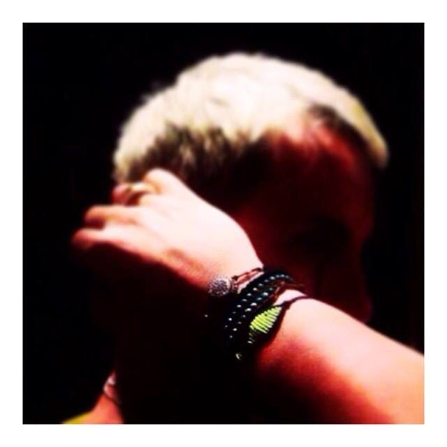 George Mazonakis wearing my bracelets