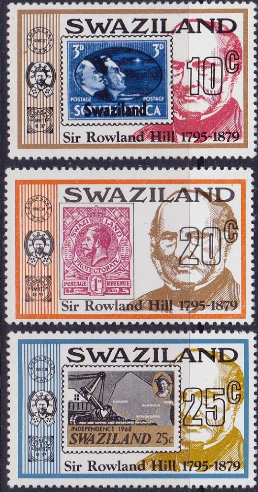 Swaziland 1979 Rowland Hill Set Fine Mint SG 325 5 Scott 329 31 Condition Fine MNH Only one post charge applied on multipule purchases Details N B