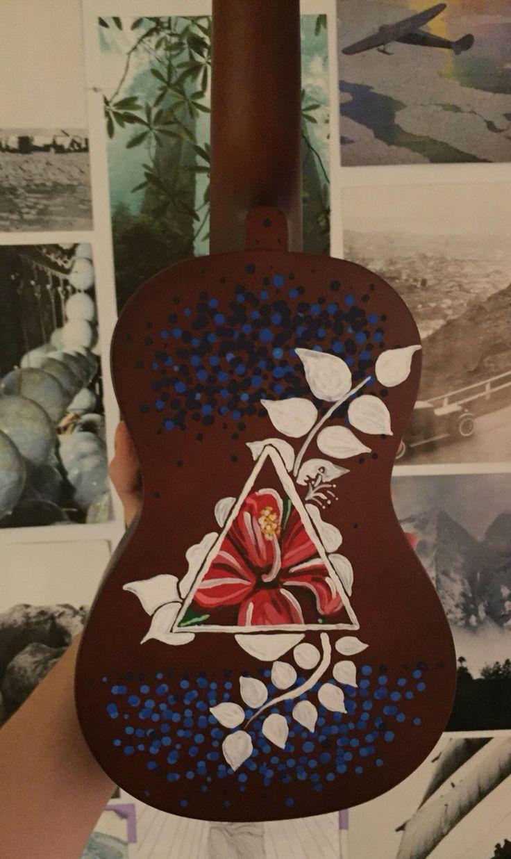 Painted Hibiscus Ukulele
